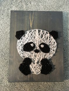 DIY Panda String Art  Here's a link you can watch to see the video of this project in the making: https://youtu.be/LFJTkQ2YjBM