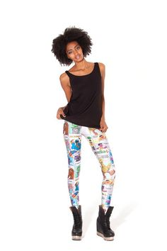 Super Sesame Comic Leggings (Made to Order) | Black Milk Clothing