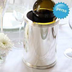 #wedding #gift #hochzeit #flaschenkuehler #bottlecooler Personalisierbarer Flaschenkühler versilbert. Personalizable Bottle Cooler.