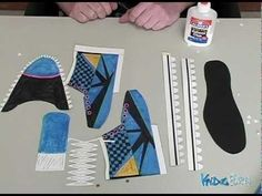 How to make a paper shoe with link to templates you need- very cool!