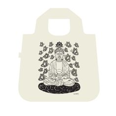 Carry our Happy Buddha Bag and spread good karma wherever you go. This Envirosax reusable bag embraces an eco-friendly message with style! Chic, durable and compact, this super soft bag carries the message of re-use and is ergonomically designed to insure comfort. Great for groceries, yoga class or an overnight trip.