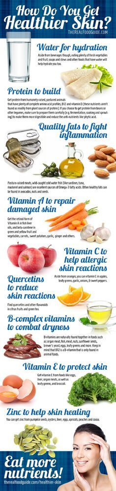 How to Get Clear Skin: Vitamins for Healthy Skin-10 Best Pinterest Infographics for All Beauty Addicts - GleamItUp