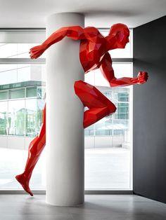 """colin-vian: """" Sculpture by Italian Architect Fabio Novembre """" Art Sculpture, Modern Sculpture, Metal Sculptures, Abstract Sculpture, Bronze Sculpture, Xavier Veilhan, Instalation Art, Column Design, Public Art"""