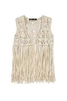 Winter Kate Macrame Vest, by Nicole Richi