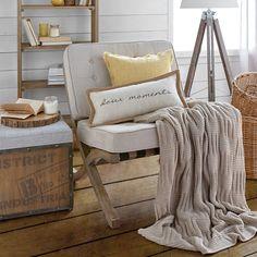 """Doux Linen & Rope Flange Decorative Pillow 12"""" X 23"""""""