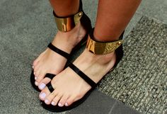 black and gold shoe wear love.
