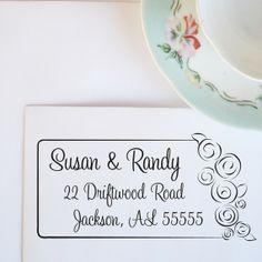 Wedding Bouquet Customized Address Stamp