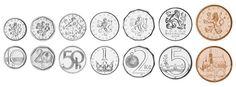 Czech Republic,  set of 7 uncirculated coins