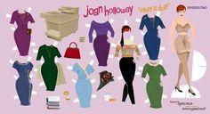 Joan paper doll cutouts
