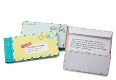 First Mother's Day gifts for new moms: Letter's to my baby keepsake memory book. Aw!