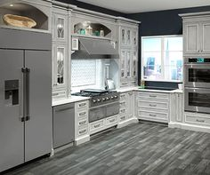Whatever They Told You About Light Grey Kitchen Cabinets With Granite Is Dead Wrong 118 - targetinspira Grey Kitchens, Luxury Kitchens, Cool Kitchens, Home Decor Kitchen, Interior Design Kitchen, Kitchen Ideas, Kitchen Designs, Diy Kitchen, Decorating Kitchen