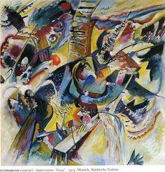 'Improvisation. Gorge', huile sur toile de Wassily Kandinsky (1866-1944, Russia)