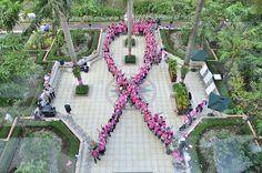 #GEHealthcare Global #PinkRibbon in Jakarta, Indonesia #BreastCancer