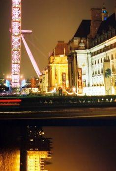 London Eye at night.
