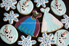 Anna+from+frozen+sunflower+birthday+movie+dress | Frozen Cookies - The Royal Icing Queen - Anna and Elsa's Dress, Olaf ...