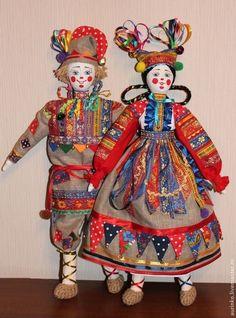 Народные куклы ручной работы. Ярмарка Мастеров - ручная работа Шут и шутиха. Handmade.