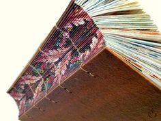 encadernação copta - lombada impressa, por @Luisa Gomes Cardoso