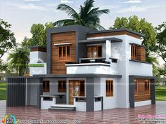 22 5 lakh cost estimated modern house is part of House design - 3 bedroom, 1500 square feet 5 lakhs construction cost estimated house architecture by Viva Arch Architects, Palakkad, Kerala Bungalow Haus Design, Duplex House Design, House Front Design, Small House Design, Modern House Design, Style At Home, Model House Plan, Kerala House Design, Home Building Design