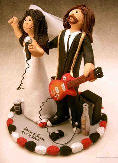 rock stars wedding cake topper