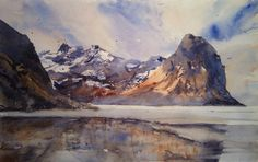 "Björn Bernström Watercolor Artist    ""Lofoten"". My workshop in Lofoten (June 2015) is fully-booked. Is there any interest out there for a Lofoten visit in November 2015? Please inbox me."