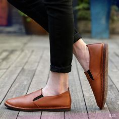 US $25 Black Orange Man Casual Shoes Big Size Leather Shoes Good Quality Male PU Shoes Fit Spring Autumn Soft Leisure Zapato hombres