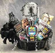 Birthdays Will Be Lots Of Fun When The Over Hill Gift Basket Arrives A Tombstone Towers Cookies Pills An Mug