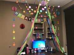 Office birthday decor
