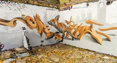 Three Dimensional Graffiti by Odeith