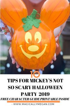 10 Tips for Mickey's Not So Scary Halloween Party 2019 The Fall season has kicked off at Walt DIsney World. FInd Tips for Mickey's Not so Scary Halloween Party and a FREE printable character guide inside! Halloween Food For Party, Halloween Season, Disney Halloween, Spooky Halloween, Halloween Ideas, Halloween Pumpkins, Happy Halloween, Disney World Tips And Tricks, Disney Tips