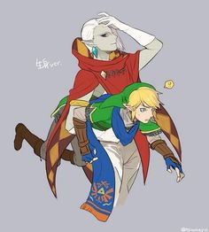 Hyrule Warriors - Ghirahim and Link