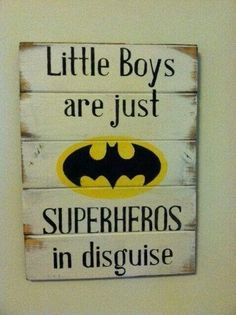 Little boys are just superheros in disguise