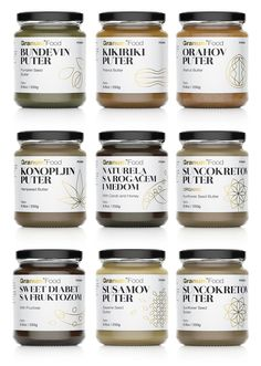 Granum Butters packaging designed by Peter Gregson.