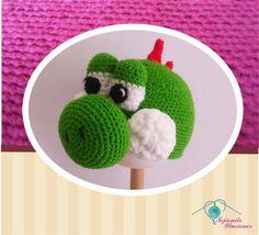 Modelo N° 43: Yoshi, del mundo de los videojuegos hemos creado a yoshi tejido a crochet, geek