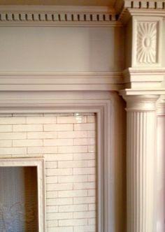 Fireplace tile, fireplace surround