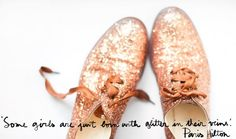 glitter. robert clergerie. ps: luv the paris hilton quote!