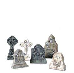 """Department 56: General Village Halloween - """"Tombstones"""" - #56.53065 - $10.00 - Intro Dec 2002"""