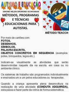 Simone Helen Drumond : MÉTODOS, PROGRAMAS E TÉCNICAS EDUCACIONAIS PARA AUTISTAS. Math For Kids, Special Education, Playing Cards, Teaching, Beauty, Fashion, Learning Disabilities, Kids Learning Activities, Kids Activity Ideas