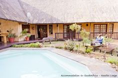 Our beautiful pool at Needles Lodge. Marloth Park, Game Lodge, Beautiful Pools, Lodges, Patio, Outdoor Decor, Travel, Home Decor, Cabins