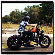 Cruzin on my sportster ...