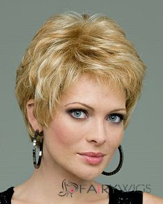 Special Cool Capless Short Straight Blonde Top Quality Human Hair Wig