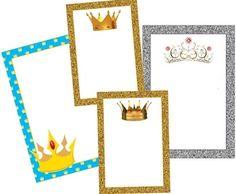 Marcos, Invitaciones, Tarjetas o Etiquetas con Coronas para Imprimir Gratis.