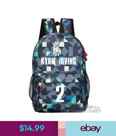 47a8d3827d8008 Unisex Accessories Cleveland Cavaliers Basketball Player Kyrie Irving No.2  Plaid Backpack Schoolbag  ebay  Fashion