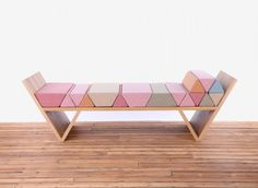 """idreamcreateandadmire: """"The Aggregate Daybed by Hania Stella Sawicka Designer: """"Aggregate Daybed extends some of the fundamental features of Thai meditation mats – an object which plays both a visual..."""