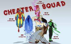 Meet the Cheater's Squad ;-))) Hier ist unsere Entwickler-Gang - da schauen wir doch richtig gut aus, oder?