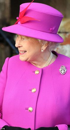 The Queen after the service today ~~ December 25, 2014