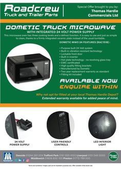 """czech-trucker: """" Dometic truck microwave with integrated, 24 volt power supply. It is easy to use and just as simple to clean. Bus Coach, Used Trucks, Volvo Trucks, Sale Promotion, Trucks For Sale, Tractors, Online Business, Centre, The Unit"""