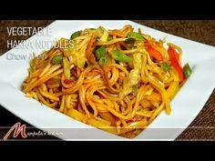 Vegetable Hakka Noodles (Chow Mein) - Manjula's Kitchen - Indian Vegetarian Recipes