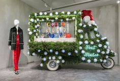 """FENDI, Ginza, Tokyo, Japan, """"It is the season! The Fendi Ginza boutique in Tokyo is full of holiday cheer"""", pinned by Ton van der Veer"""