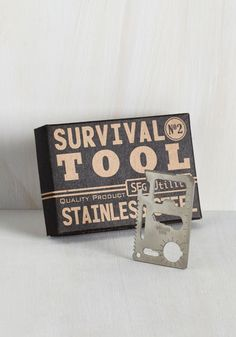 Stubborn can? Loose screw? Or even worse - a troublesome bottle? You can solve any sitch in a jiffy with this stainless steel multi-tool by your side! Sleek enough to fit comfortably inside a wallet, this tool tackles an array of tasks from sawing to measuring, keeping you crafty in a snap!