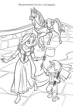 Tangled Coloring Picture Drawing Pinterest Tangled Coloring
